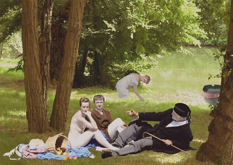 Imposture Le dejeuner sur l'herbe