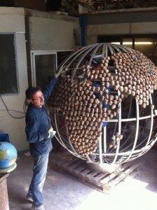 sebastien langloys debvant sa sculpture